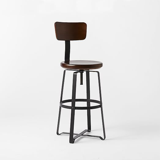 Adjustable Industrial Stool With Back Industrial Stool