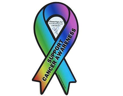 Multi Cancer Ribbon Awareness Mini Magnet Multi Cancer