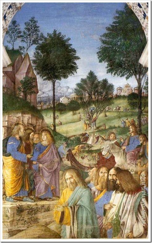 Вход Господень в Иерусалим. Деталь. После 1484. Ризница Сан-Марко базилики Санта делла Каса. Лорето. Италия
