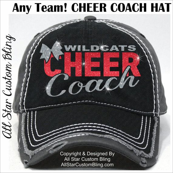Glitter Cheer Coach Hat Custom Cheer Coach Hat Personalized
