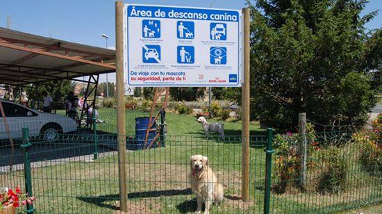 Área de descanso para perros