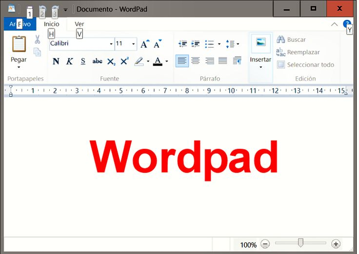 Wordpad de windows 10