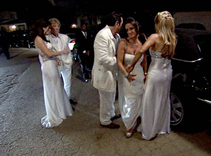 """""""Uninvited"""" from Real Housewives of Beverly Hills OMG Moments  After Taylor Armstrong and her husband threaten to sue Camille Grammer, Kyle Richards is forced to uninvite the couple. """"Friends don't sue friends,"""" Adrienne Maloof proclaims."""