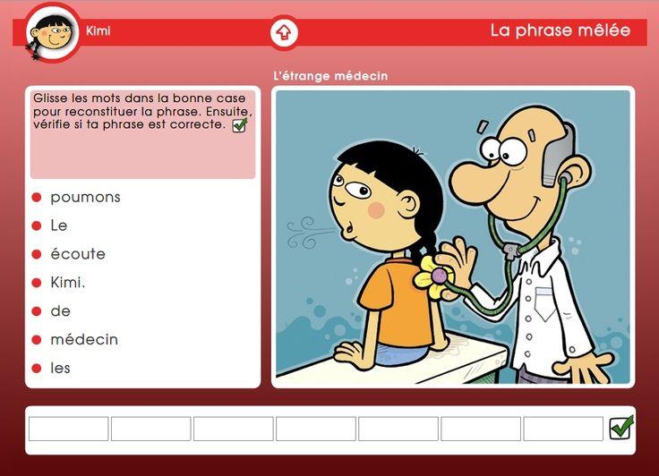 Premières lectures : Jeux interactifs pour les élèves qui en sont à leurs premières lectures (replacer les mots d'une phrase en ordre, attribuer l'image avec la phrase, etc.)