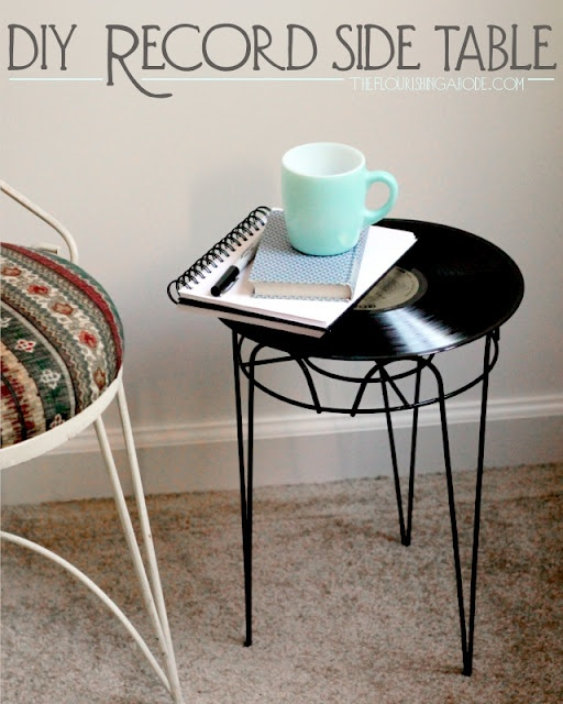 Vynil coffee table