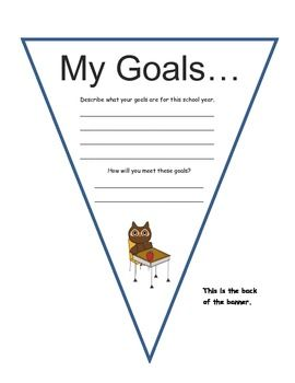 MY GOALS PERSONALIZED BANNER - TeachersPayTeachers.com