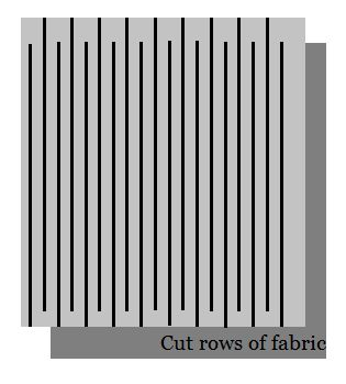 How to cut fabric into one continuous strip to crochet or knit or for coiled baskets