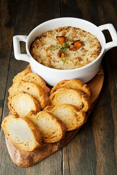 chanterelle mushroom dip recipe | use real butter