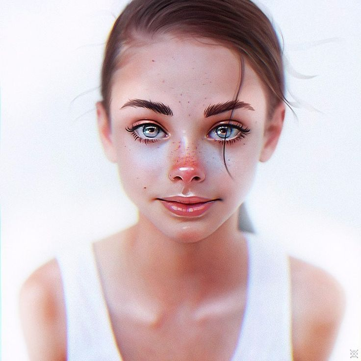 We're loving the #painting style of this #portrait of Meika Woolard by Julia Razumova