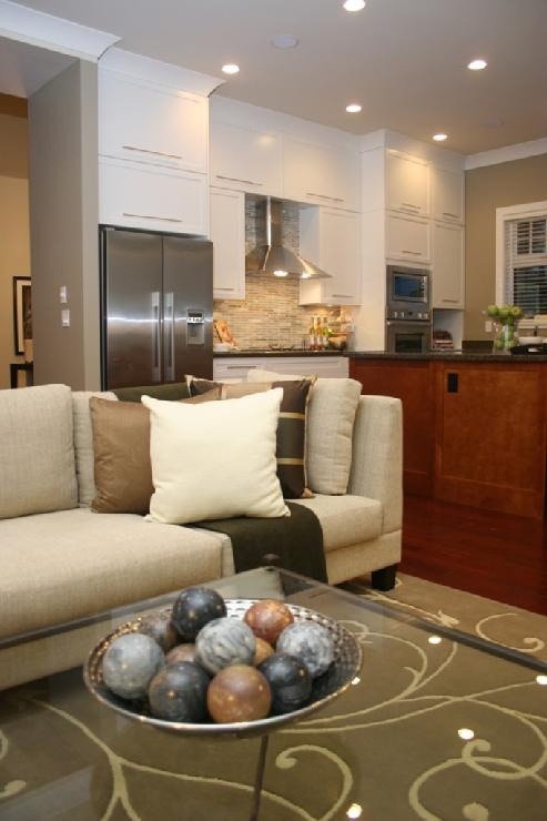 living area in the kitchen...if the space allows that would be awesome for entertaining!