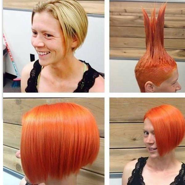 Feurige Shades, um einen extrem heißen Look für kurzes Haar zu schaffen