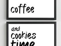 Plakaty - COFFEE AND COOKIES - 2x 50x70,7 cm - B2