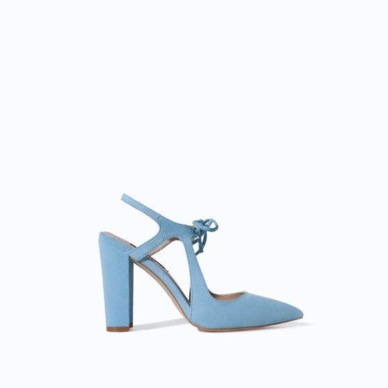 """totally on a shoe """"kick"""" // ice blue """"court shoe"""" #ZARA"""