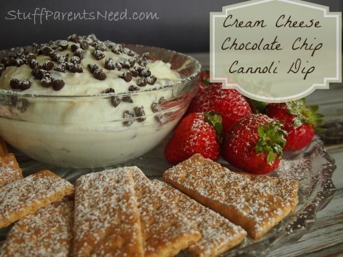 Philly Cream Cheese Chocolate Chip Cannoli Dip: The Ultimate After-School Snack #SaveOnPhilly