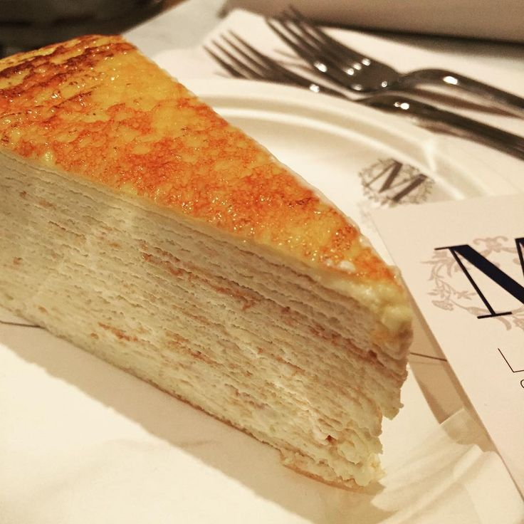Lady M. 18 layer milk crepe cake.