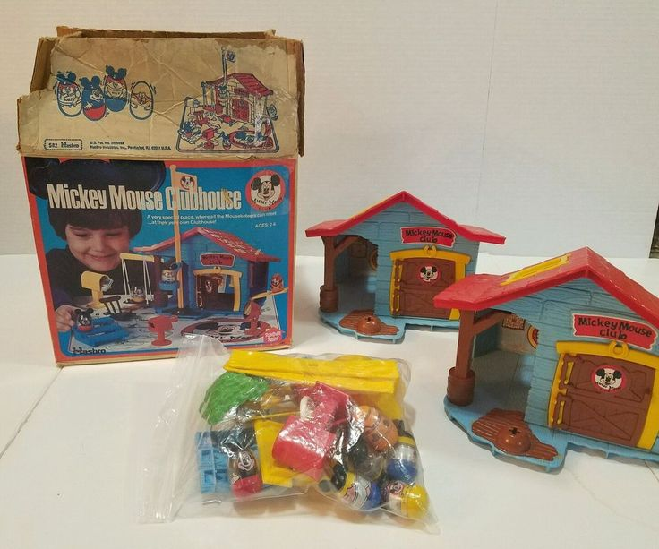 1976 MICKEY MOUSE CLUBHOUSE Weebles Playset Hasbro Romper Room #582 #Hasbro