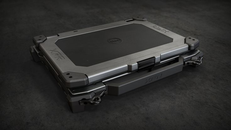 Latitude XFR Fully Rugged Laptop rendered in KeyShot (and looking better than the actual product shots) by Matt Grossman!