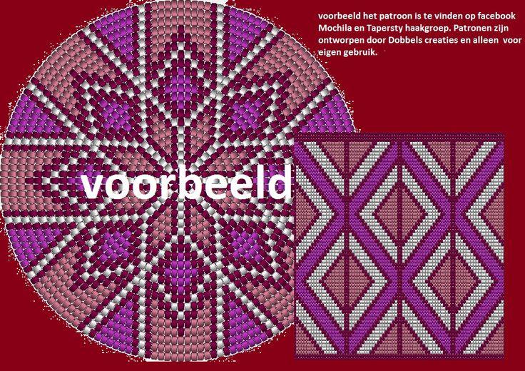 patrón mochila en tapestry crochet