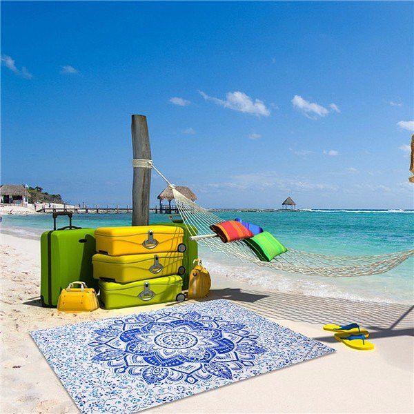 Mandala Bohemian Style Beach Scarf Shawl Tapestry Wall Hanging Bedspread Throw Decor