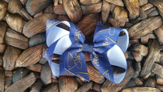 Check out this item in my Etsy shop https://www.etsy.com/listing/224964705/small-blue-hair-bow-loopy-hair-bow-small