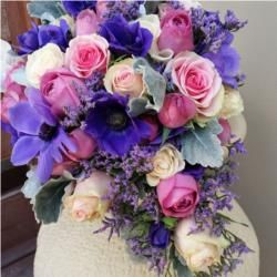 Colourful bouquet for your wedding! This design is stunning, we love the combination of the different flowers. Check out Flowers With Style for more inspiration.