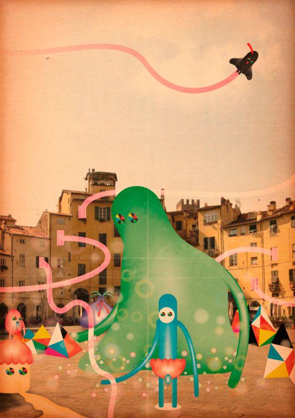 "Marco Puccini: ""Ilustrar es inventar un mundo propio"" - http://www.anormalmag.cl/entrevistas/marco-puccini/: Abitata Dai, Products Avail, Marco Puccini, Puccini Lucca, Inspiration Boards, Art Prints, Buy Lucca, High Quality, Dai Mostri"