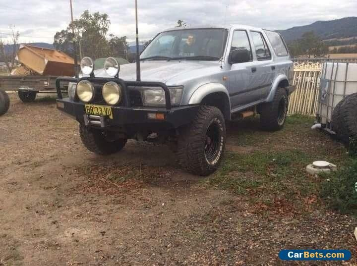 "Toyota 4 runne v6 5 spd auto locka custom bars lifted LPG 33"" muddies spare whee #toyota #4runner #forsale #australia"