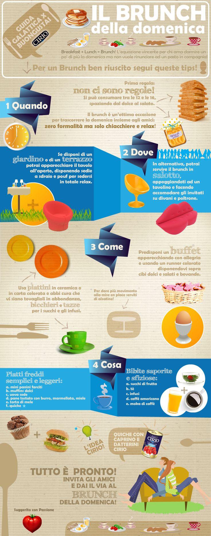 """""""Guida galattica per Buongustai"""" Cirio Il Brunch della domenica #brunch #domenica #sunday #breakfast #lunch #infographic"""