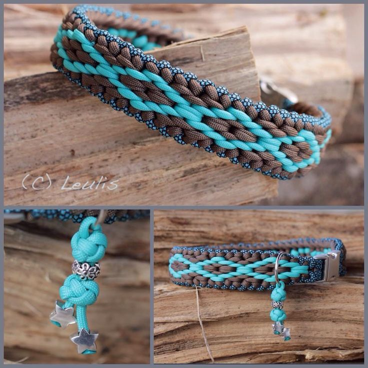 Hundehalsband … Paracord dog collars, Paracord braids