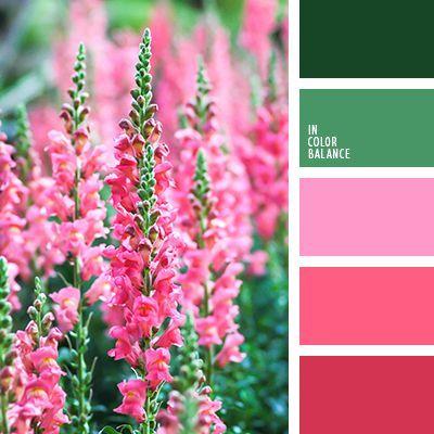 алый, зеленый, красный, насыщенный зеленый, оттенки весны, оттенки зеленого, оттенки розового, подбор цвета, розовый, салатовый, тёмно-зелёный, цвета весны 2016, цветовая палитра для весны, цветовое решение для дизайна.