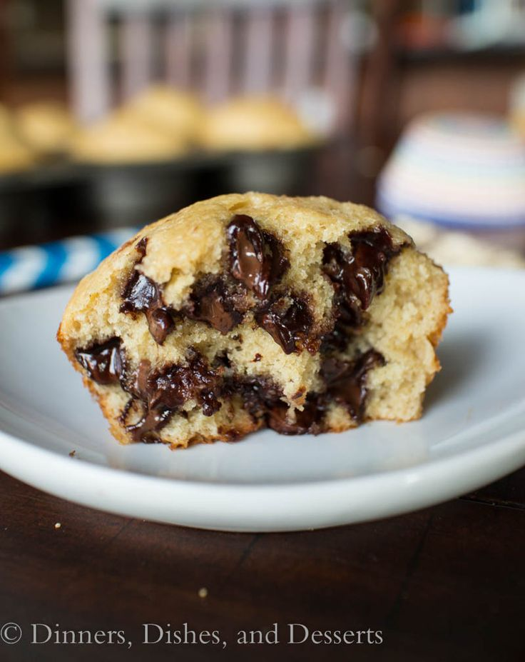 Banana Oatmeal Chocolate Chip Muffins (gluten-free no added oil)