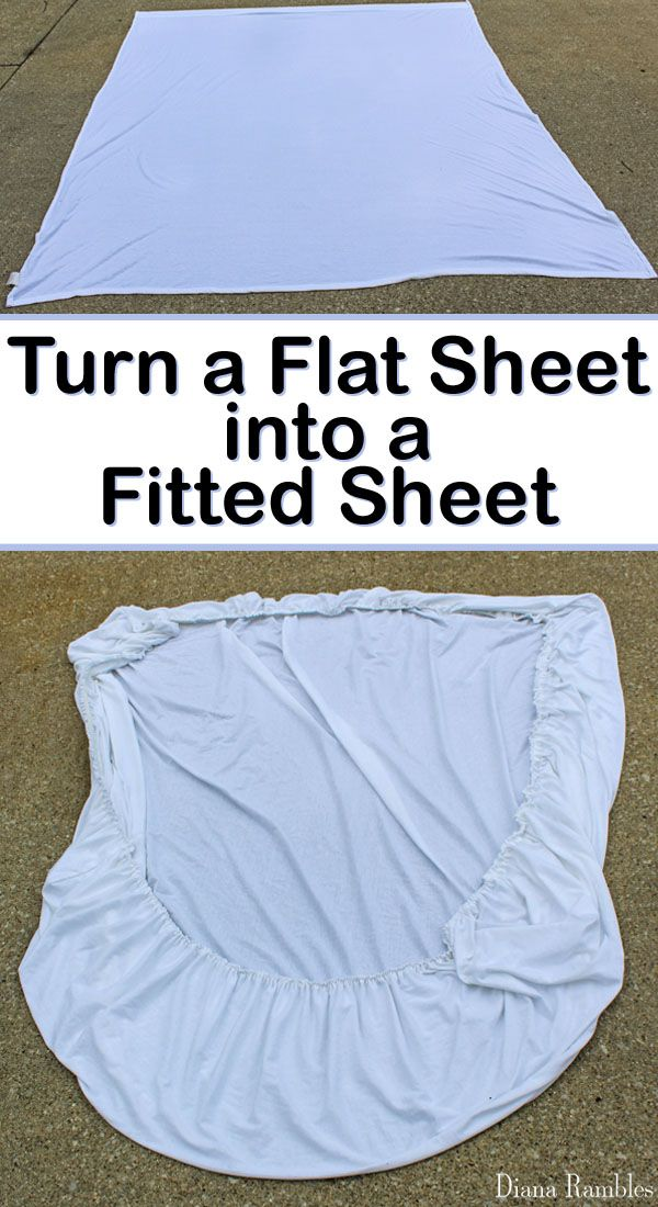 How to Sew a Fitted Sheet from a Flat Sheet Tutorial - Need another fitted sheet? See how easy it is to sew a fitted sheet out of a flat sheet. This tutorial is perfect for RV mattresses.