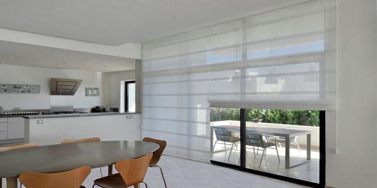 Nos Produits En Store Bateau Semi Opaque White Blinds Blinds Bay Window