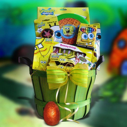 65 best gift baskets for kids images on pinterest auction ideas easter gift baskets for children gift baskets by sponge bob by gift basket for kids negle Images