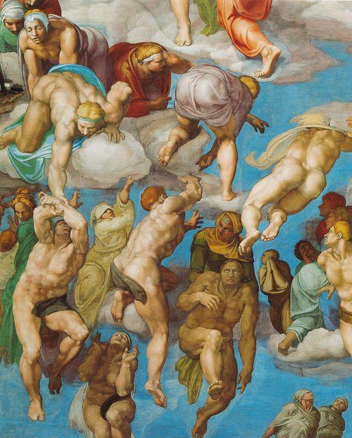 Sixtinische Kapelle, Michelangelo, Jüngstes Gericht, die Seligen (Last Judgment, the blessed ones) | Flickr - Photo Sharing!