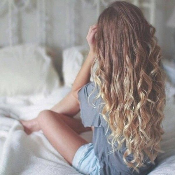 "*тυмвlr pιcѕ нere* on Instagram: ""NO JOKE HAIR GOALS ? the ombré the... ❤ liked on Polyvore featuring beauty products, haircare, hair styling tools and curly hair care"
