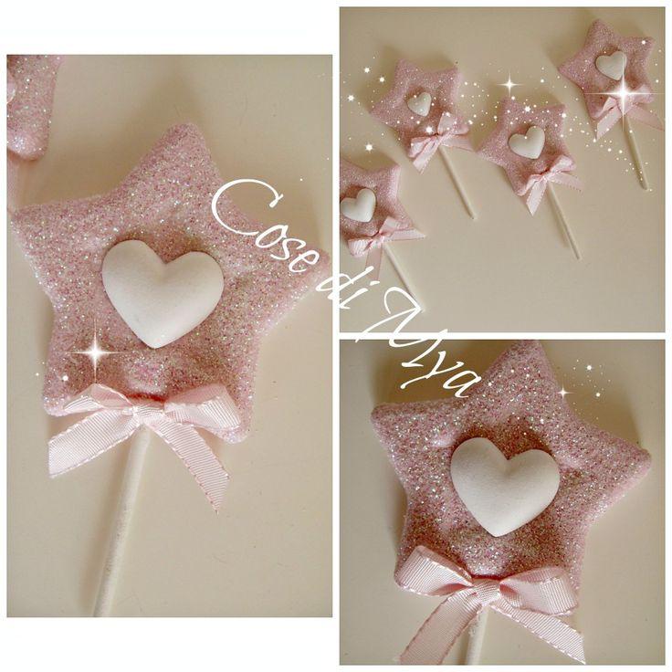 Gessetti lecca lecca STAR baby, rosa, femmina, bimba, nascita