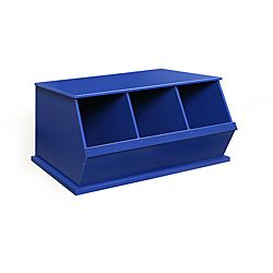 Three Bin Stackable Storage Cubby in Blue - Overstock™ Shopping - Big Discounts on Badger Basket Storage & Organization