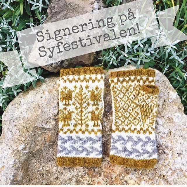 """På lördag den 29 oktober mellan 14.30 och 16.30 signerar Erika Åberg @ winja sin nya bok i vår monter B 10: 25 (mitt på sticktorget). I boken """"Sticka vantar, sockor och lite till"""" finns halvvanten Kråke med som oks finns som materialpaket för Dig som vill sticka den. Kråke är stickad av det vackra garnet Spelsau lammull som snat kommer i en vacker färgskala som vi kallar för # färgspel # stickavantarsockorochlitetill # erikaåberg # spelsaulammull # holoeldtlund"""