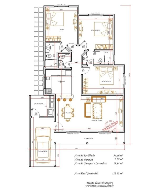 15 best 1 images on Pinterest House template, Smallest house and - plan maison plain pied 80m2