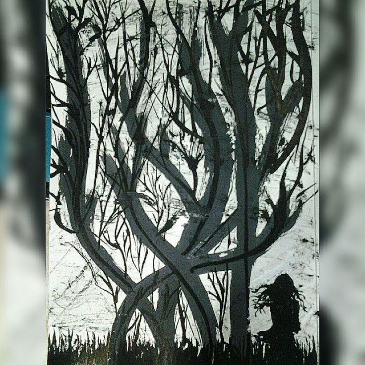 Edisi cat hotam putih.., pohon kehidupan