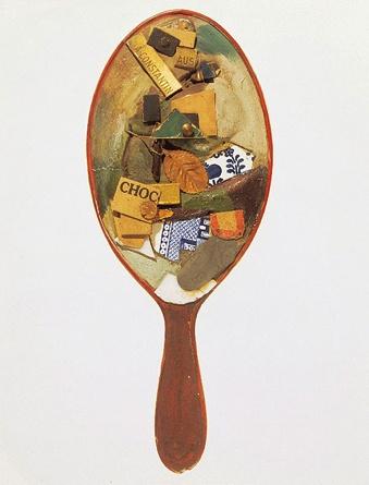 Kurt Schwitter's Untitled mirror assemblage 1920-22.