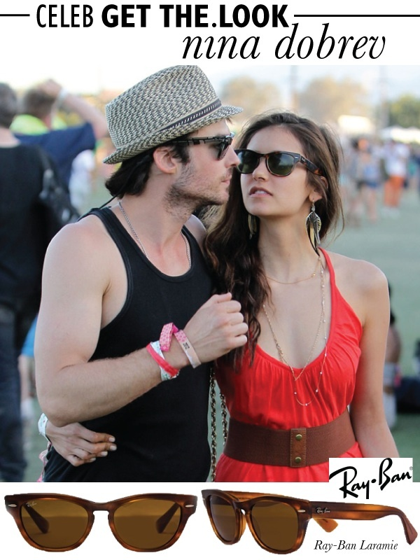 CELEB GET THE LOOK: NINA DOBREV  Ray-Ban is renowned for their stylishly unique and timeless eyewear - No wonder celebrities and trendsetters adore the brand. Don't miss out on a chance to grab this pair of Ray-Ban Laramie wayfarers on the Luxury Sunglasses Flash SALE now > http://www.diligo.co.za/live-sales.html