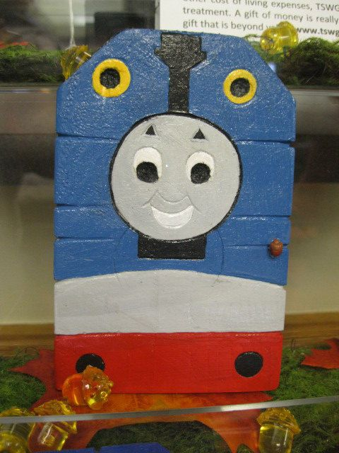 Thomas The Tank Engine Inspired Fairy Door by AcornTops on Etsy $15.00 & 61 best Fairy Doors images on Pinterest | Fairy doors Fairies and ... pezcame.com