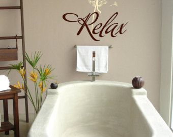 relax with dandelion lettering wall words graphics home decor