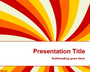 color beam powerpoint template free download