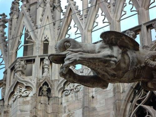 Gargoyle on the Milan cathedral.