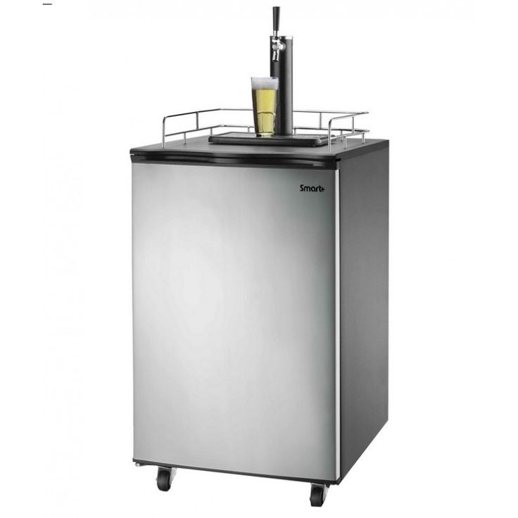 Versonel SPP155BDSS Smart Freestand Full Keg Kegerator Beer Meister in Sleek Black/Stainless Steel
