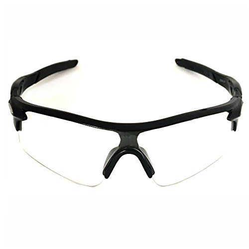 Sekishuncho Outdoor Sports Athletes Sunglasses for Cycling Fishing Golf100 UV Protection Clear *** You can get more details by clicking on the image.
