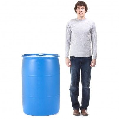 Water Barrel - 55 Gallon Drum. Want to build a vertical self-composting garden with this! :)